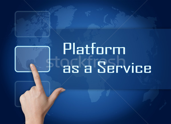 プラットフォーム サービス インターフェース 世界地図 青 インターネット ストックフォト © Mazirama