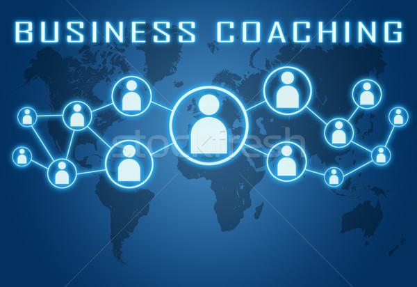 ビジネス コーチング 青 世界地図 社会 アイコン ストックフォト © Mazirama