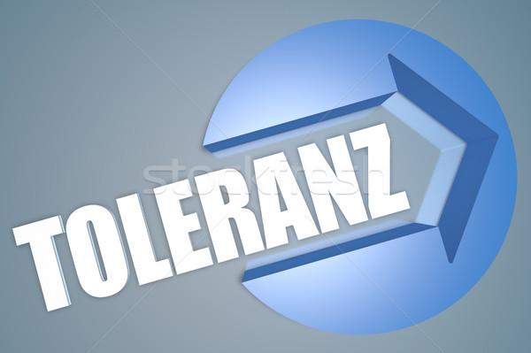 Parola tolleranza testo rendering 3d illustrazione arrow Foto d'archivio © Mazirama