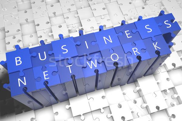 Business network puzzle 3d ilustracja Internetu technologii Zdjęcia stock © Mazirama