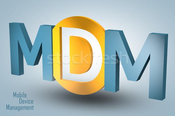 Móviles dispositivo gestión siglas 3d ilustración Foto stock © Mazirama