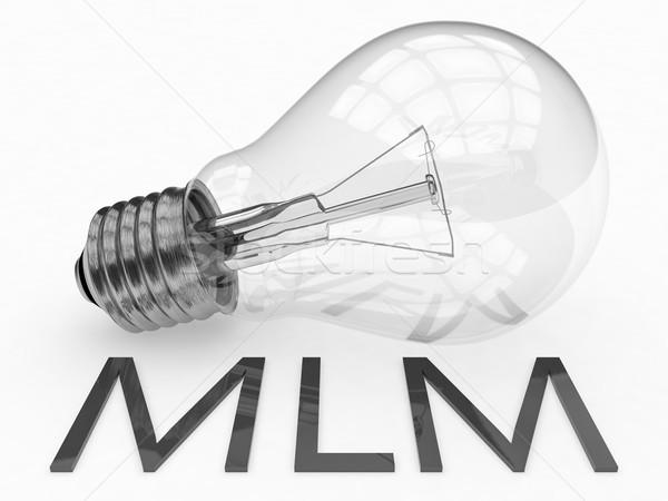Nível marketing mlm lâmpada branco texto Foto stock © Mazirama