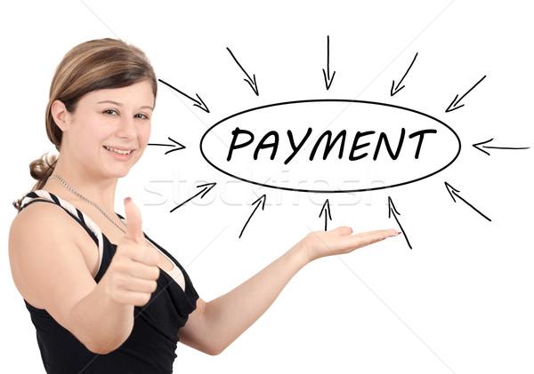 支払い 小さな 女性実業家 プロセス 情報 孤立した ストックフォト © Mazirama