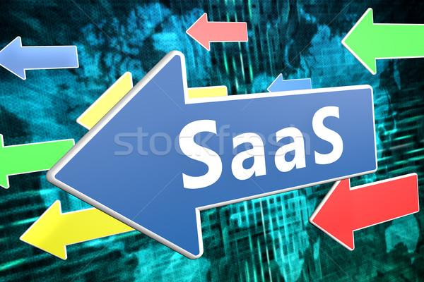 Software servicio texto azul flecha vuelo Foto stock © Mazirama