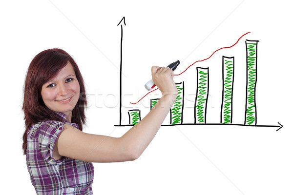 Diagram chart Stock photo © Mazirama