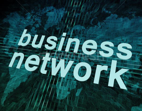 Negócio palavras digital mapa do mundo tela Foto stock © Mazirama