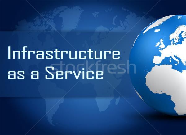 инфраструктура службе мира синий Мир карта интернет Сток-фото © Mazirama