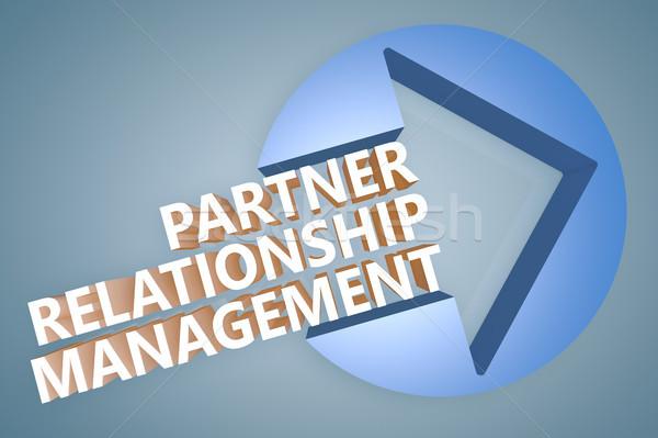 Partner relatie beheer tekst 3d render illustratie Stockfoto © Mazirama