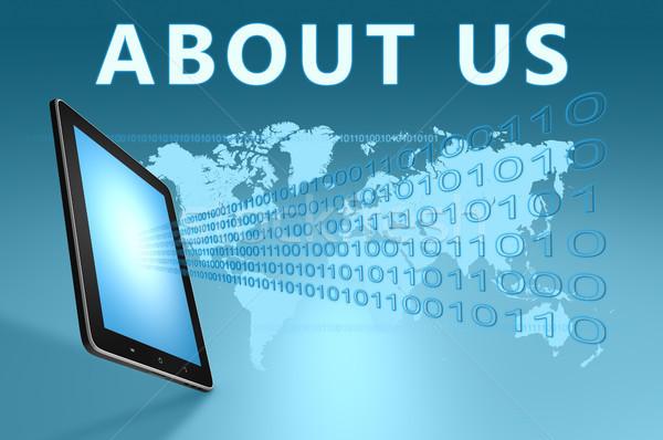 о компании иллюстрация синий служба интернет Сток-фото © Mazirama