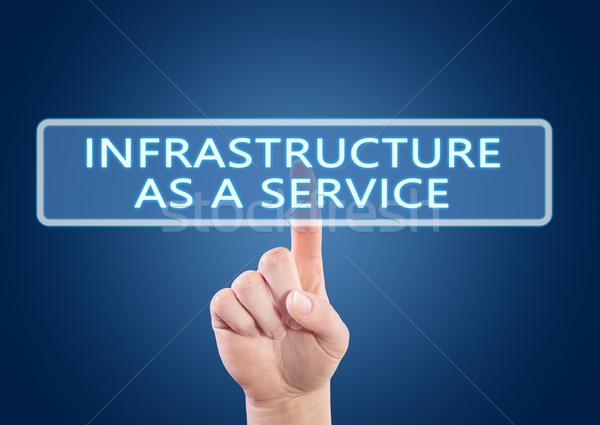 Infrastructuur dienst hand knop interface Stockfoto © Mazirama