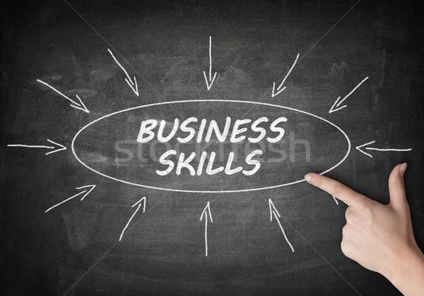 бизнеса навыки процесс информации доске стороны Сток-фото © Mazirama