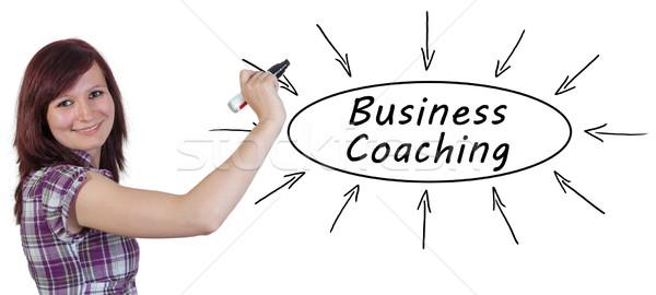 ビジネス コーチング 小さな 女性実業家 図面 情報 ストックフォト © Mazirama