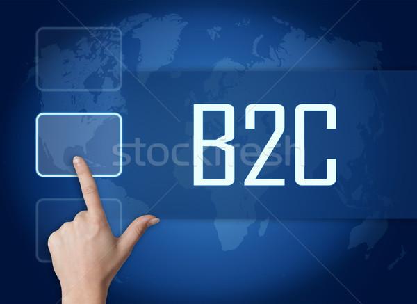 Iş müşteri arayüz dünya haritası mavi para Stok fotoğraf © Mazirama