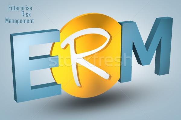 Przedsiębiorstwo zarządzanie ryzykiem akronim 3d ilustracja Internetu Zdjęcia stock © Mazirama