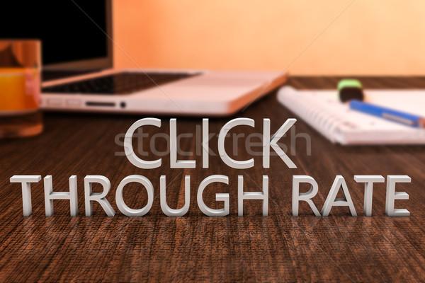 щелчок письма столе портативного компьютера Сток-фото © Mazirama