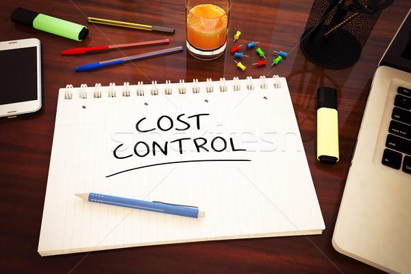 Kosten controle tekst notebook bureau Stockfoto © Mazirama