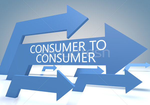 Consument geven Blauw pijlen internet brief Stockfoto © Mazirama