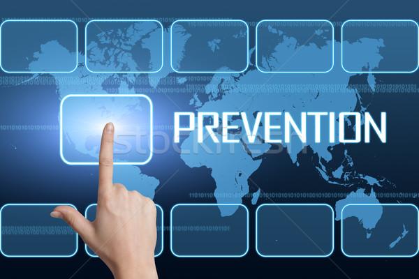 Prevenção interface mapa do mundo azul médico doente Foto stock © Mazirama