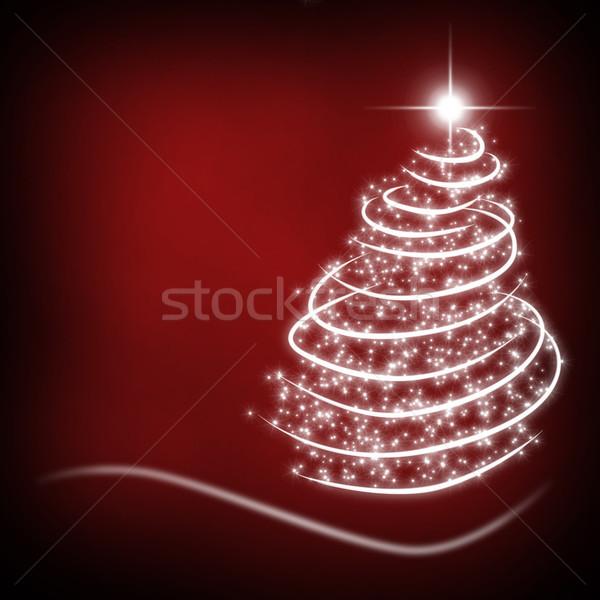 рождество карт Рождества красный рождественская елка Сток-фото © Mazirama