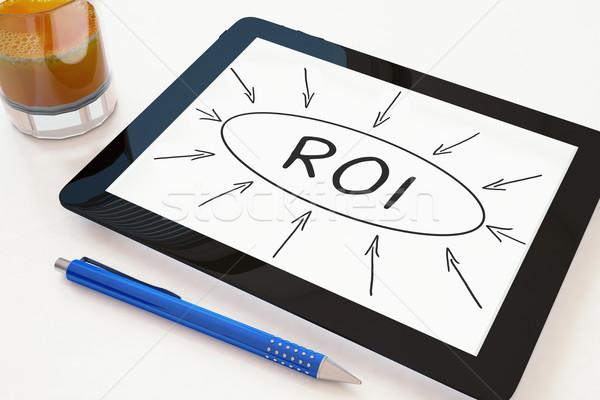 возврат инвестиции roi текста мобильных Сток-фото © Mazirama