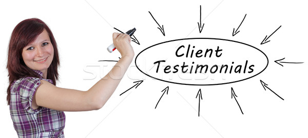 Client Testimonials Stock photo © Mazirama