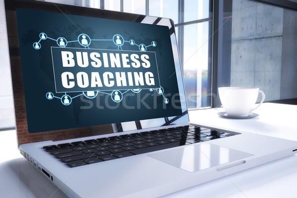 ビジネス コーチング 文字 現代 ノートパソコン 画面 ストックフォト © Mazirama