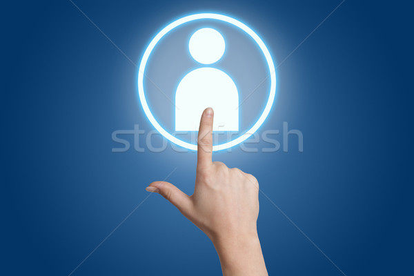 pressing social media icon Stock photo © Mazirama