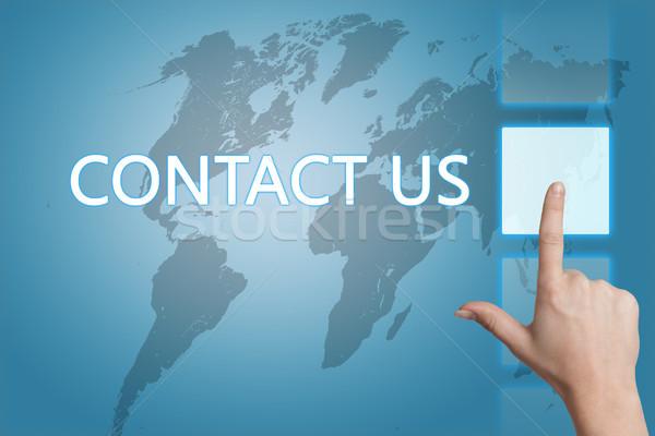 Stockfoto: Marketing · woorden · Blauw · wereldkaart · business