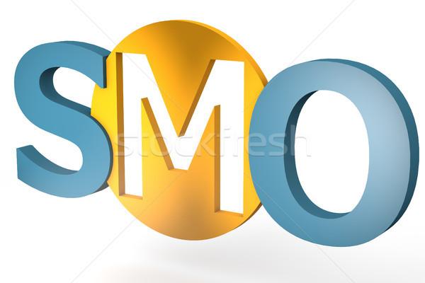 Medios de comunicación social optimización siglas aislado blanco negocios Foto stock © Mazirama