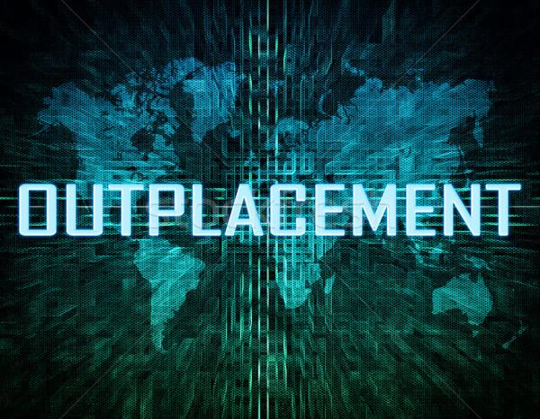 Texto verde digital mapa del mundo negocios ordenador Foto stock © Mazirama