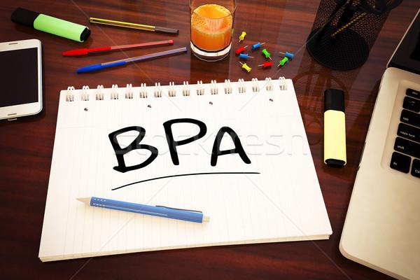 Business processo analisi manoscritto testo notebook Foto d'archivio © Mazirama