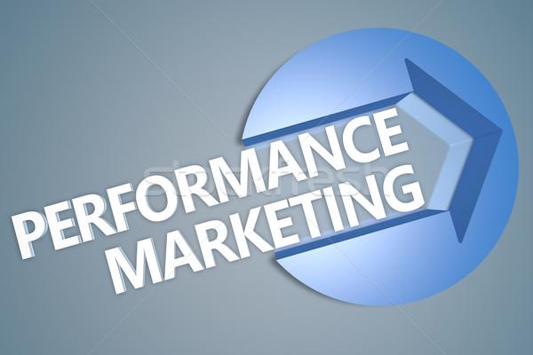 Atuação marketing texto 3d render ilustração seta Foto stock © Mazirama