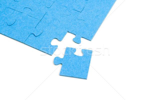 Blue Puzzle isolated on white background Stock photo © Mazirama