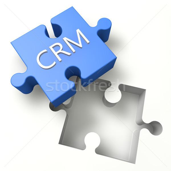 Puzzle crm 3D klienta stosunku zarządzania Zdjęcia stock © Mazirama
