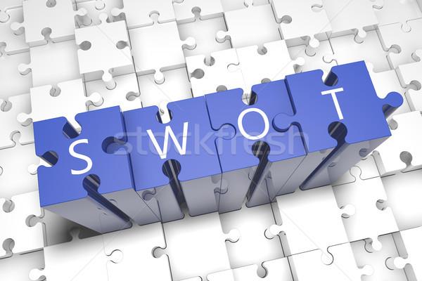 SWOT Puzzle Stock photo © Mazirama