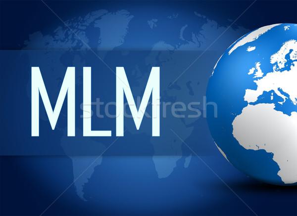 Nível marketing globo azul mapa do mundo negócio Foto stock © Mazirama