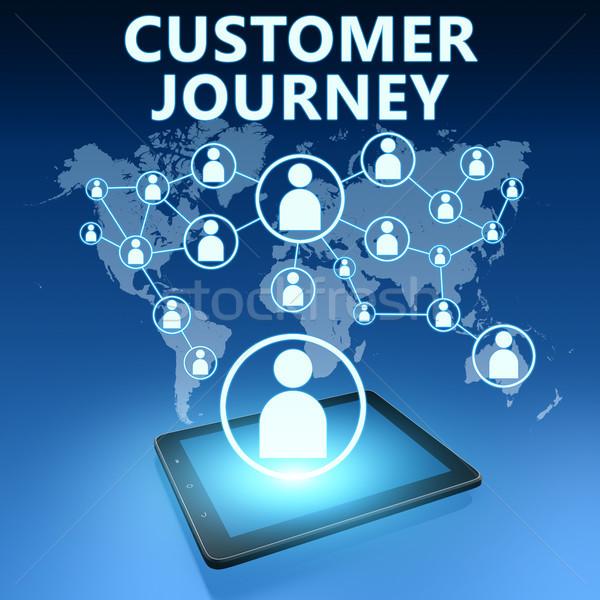 Müşteri yolculuk örnek mavi teknoloji Stok fotoğraf © Mazirama