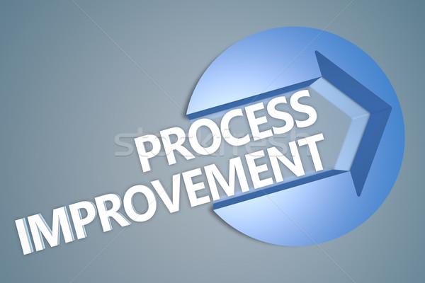 Processus amélioration texte rendu 3d illustration flèche Photo stock © Mazirama