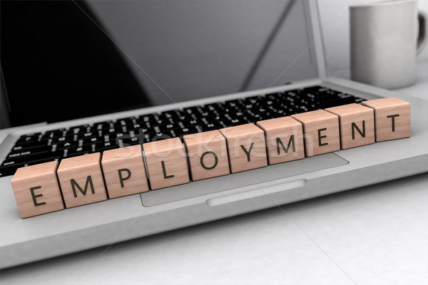 Employment text concept Stock photo © Mazirama