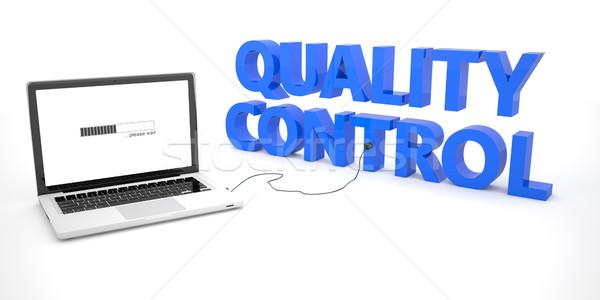 Kwaliteitscontrole laptop notebook computer woord witte Stockfoto © Mazirama