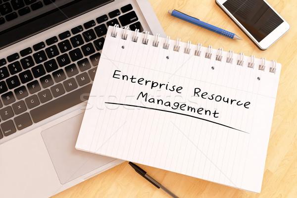 Empresa recurso gestão texto caderno Foto stock © Mazirama