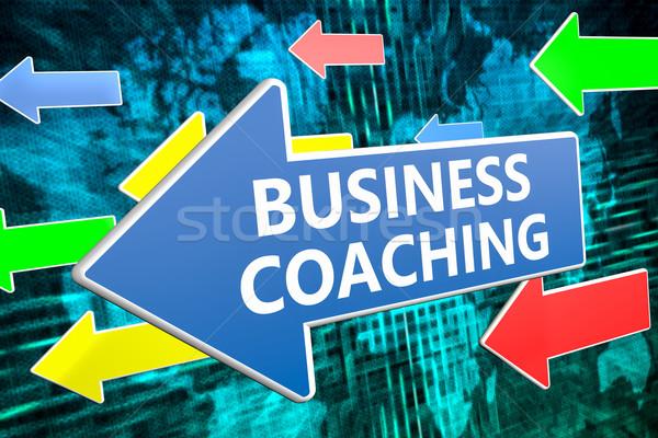 ビジネス コーチング 文字 青 矢印 飛行 ストックフォト © Mazirama