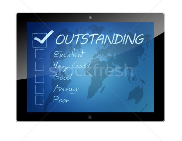 Tablet Rating concept Stock photo © Mazirama