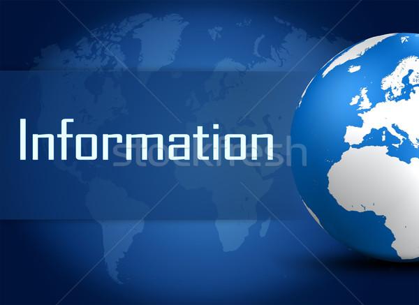 информации мира синий бизнеса технологий контакт Сток-фото © Mazirama