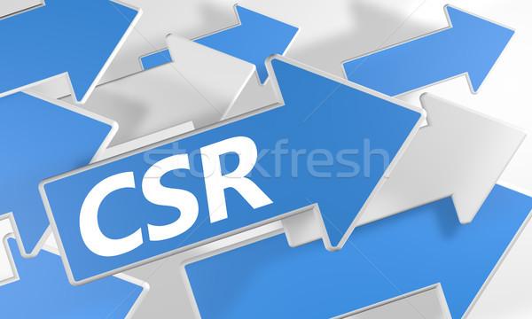 Empresarial social responsabilidad 3d azul blanco Foto stock © Mazirama