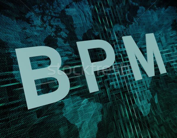 Affaires processus gestion bpm texte vert Photo stock © Mazirama