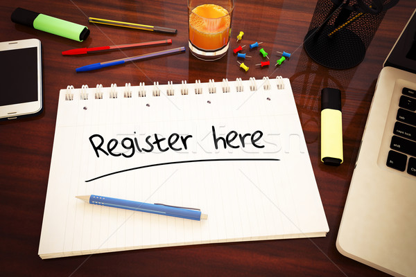 Stock photo: Register here
