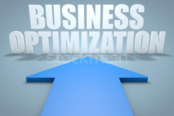 Negocios optimización 3d azul flecha senalando Foto stock © Mazirama