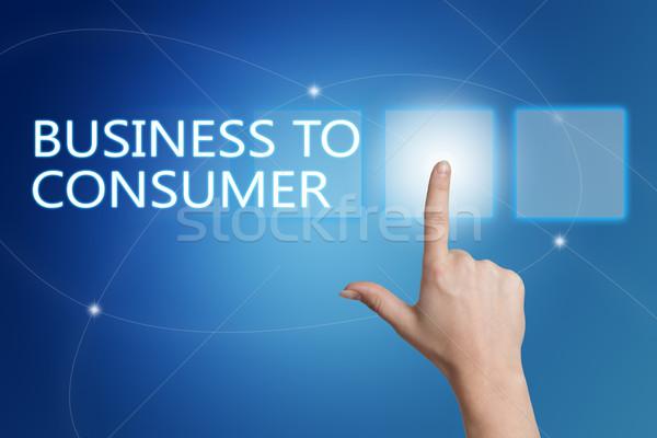 Negócio consumidor mão botão interface Foto stock © Mazirama