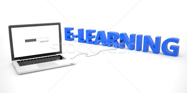 ノートパソコン ノートブック コンピュータ 言葉 白 ストックフォト © Mazirama